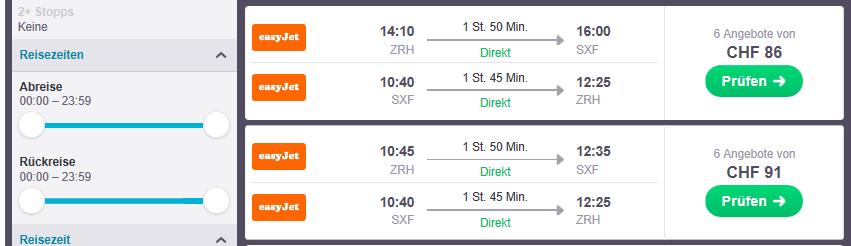 Reisezeiten regulieren